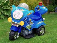 Elektrická silniční minimotorka, modrá