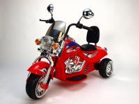 Elektrická motorka harleyka chopper HL 500, 2x motory 12V, červená