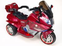 Cestovní elektrická motorka, 2 motory - pohon obou zadní kol, vínová