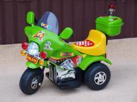 Dětská elektrická motorka – policie - zelená
