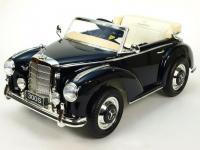Elektrické autíčko Mercedes-Benz 300S oldtimer, FM rádio, DO, kožené sedačky, černý