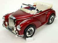 Elektrické autíčko Mercedes-Benz 300S oldtimer, FM rádio, DO, kožené sedačky, červená