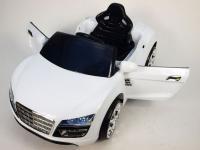 Elektrické autíčko Spydercars s DO, pérováním náprav, otevírací dveře a zadní kapota, bílé