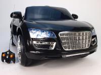 Elektrické autíčko Spydercars s DO, pérováním náprav, otevírací dveře a zadní kapota, černé