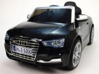 Elektrické autíčko Audi S5 s 2,4GHz DO, čalouněná sedačka, černá