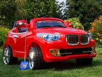 Elektrické autíčko bavor s DO, 4 rychlosti, červené