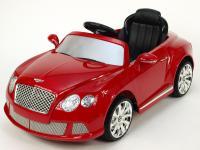 Elektrické autíčko Bentley, s dálkovým ovládáním, licence, červená