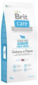 Brit Care Grain-free Junior Large Breed Salmon & Potato 12 kg