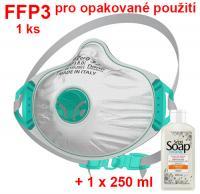 BLS Zer0 32 respirátor FFP3 R D - 1 ks + 1 ks dezinfekce 250 ml
